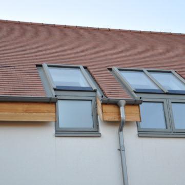 Aluclad roff and windows