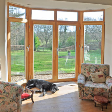 Bay French doors