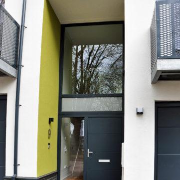 Bespoke entrance door double height