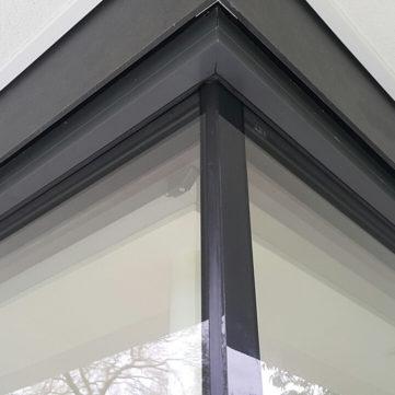 Bespoke glass to glass corner