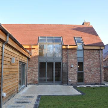 Bifold doors with roof windows