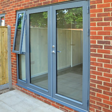 French door with side opening window