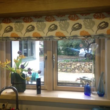 Inside window with internal sill