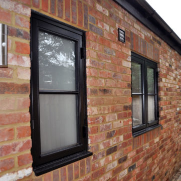 Open out timber window