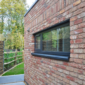 Red Brick with black window