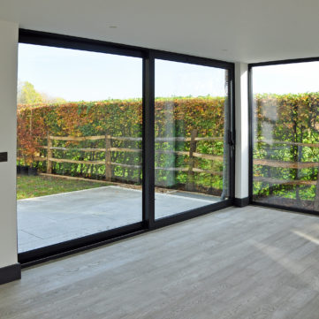 Sliding door and fixed window