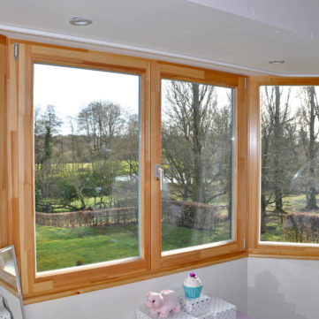 Tilt and turn aluclad windows