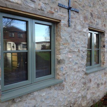 Traditional window with horizontal bar